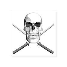 """katana_skull Square Sticker 3"""" x 3"""""""
