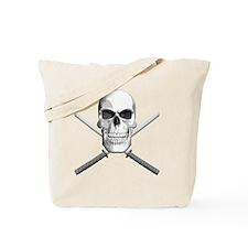 katana_skull_sm Tote Bag