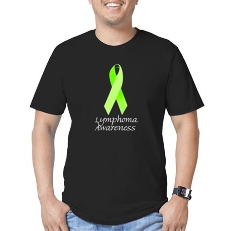 Lymphoma Awareness Lime Ribbon on T-Shirt