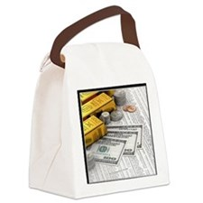 gold_bars_06 Canvas Lunch Bag