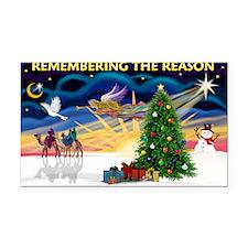 Remember-Christmas Sunrise Rectangle Car Magnet