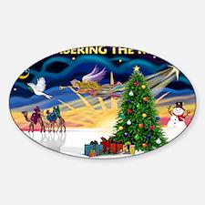 Remember-Christmas Sunrise Sticker (Oval)