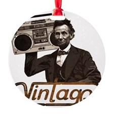 abe lincoln boombox Ornament