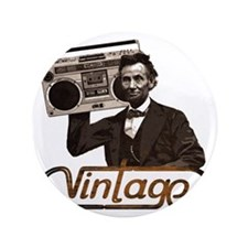 """abe lincoln boombox 3.5"""" Button"""