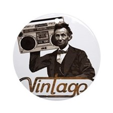 abe lincoln boombox Round Ornament