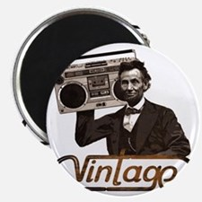 abe lincoln boombox Magnet
