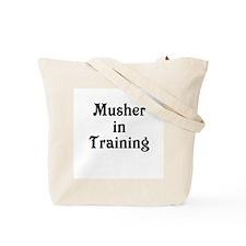 Siberian Husky Dog Sled Musher Tote Bag