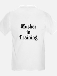 Siberian Husky Dog Sled Musher Kids T-Shirt