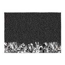 alice-vintage-border_black_18x21h 5'x7'Area Rug