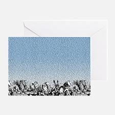 alice-vintage-border_blue_18x21h Greeting Card