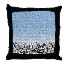 alice-vintage-border_blue_18x21h Throw Pillow