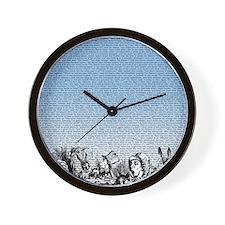 alice-vintage-border_blue_14-333x18v Wall Clock