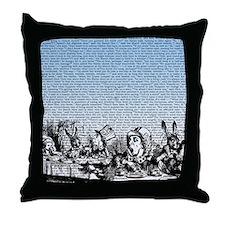 alice-vintage-border_blue_15x18h Throw Pillow