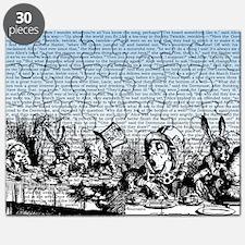alice-vintage-border_blue_12-5x18h Puzzle
