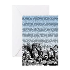 alice-vintage-border_blue_9-86x18v Greeting Card