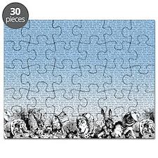 alice-vintage-border_blue_18x18 Puzzle