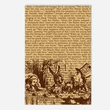 alice-vintage-border_brow Postcards (Package of 8)