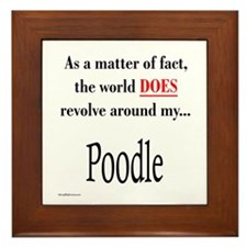 Poodle World Framed Tile