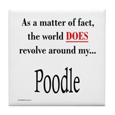 Poodle World Tile Coaster