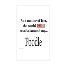 Poodle World Rectangle Decal
