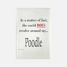 Poodle World Rectangle Magnet