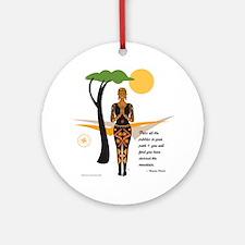 YogaAfricacardNvala Round Ornament