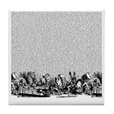 alice-vintage-border_bw_18x18 Tile Coaster