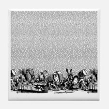 alice-vintage-border_bw_18x18 Tile Coaster