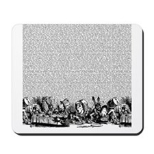 alice-vintage-border_bw_18x18 Mousepad