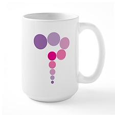Pink and Purple Question Mark Mug