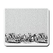alice-vintage-border_bw_18x21h Mousepad