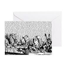 alice-vintage-border_bw_10-833x18h Greeting Card