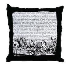 alice-vintage-border_bw_13-5x13-5 Throw Pillow