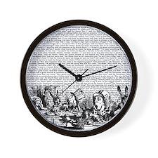alice-vintage-border_bw_13-5x13-5 Wall Clock