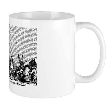 alice-vintage-border_bw_12-5x18h Mug