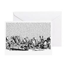 alice-vintage-border_bw_12-5x18h Greeting Card