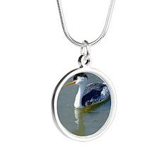 ClarksGrebe10X8 Silver Round Necklace