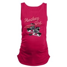 hockey_girl_red Maternity Tank Top