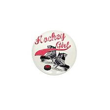 hockey_girl_red Mini Button