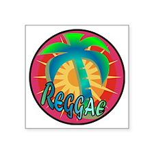 "Reggae Sun / Square Sticker 3"" x 3"""