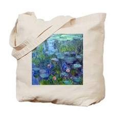 Pillow Monet WLilies Tote Bag