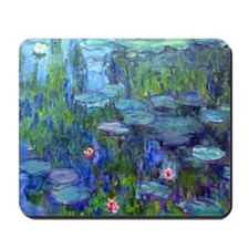 Pillow Monet WLilies Mousepad