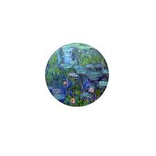 Pillow Monet WLilies Mini Button