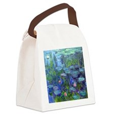 Pillow Monet WLilies Canvas Lunch Bag