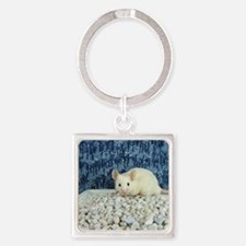 Winter Mouse Square Keychain