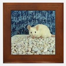 Winter Mouse Framed Tile