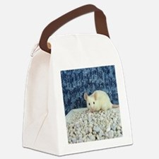 Winter Mouse Canvas Lunch Bag