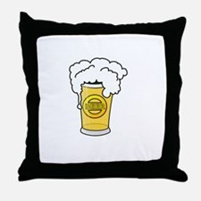 Dog Beers White Throw Pillow