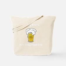 Dog Beers White Tote Bag