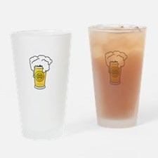 Dog Beers White Drinking Glass